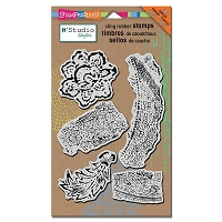 Stampendous - Cling Mounted Rubber Stamp - NK Studio Fiesta