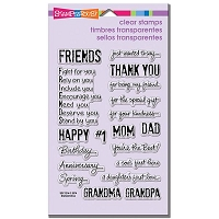 Stampendous Perfectly Clear Stamp - Happy Greetings