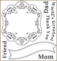 Darcie's Cling Mounted Rubber Stamps - World's Greatest