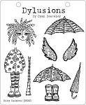 Dylusions - Cling Rubber Stamps - Ruby Rainbow