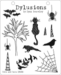 Dylusions - Cling Rubber Stamps - Bits and Bats