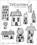 Dylusions - Cling Rubber Stamps - Right Up Your Street