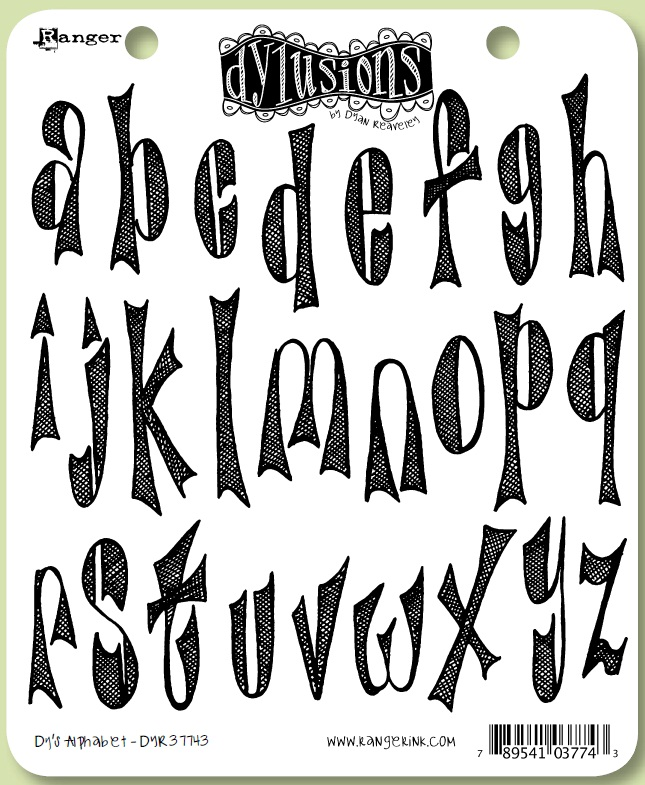 Dylusions cling rubber stamps dy s alphabet