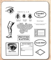 Stamper's Anonymous / Tim Holtz - Cling Rubber Stamp Set - Classics # 12