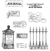 Stamper's Anonymous / Tim Holtz - Cling Rubber Stamp Set - Classics # 13