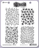 Dylusions - Cling Rubber Stamps - Christmas Backgrounds