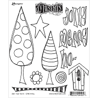 Dylusions Christmas cling stamps