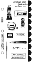 Stamper's Anonymous - Wendy Vecchi Studio 490 Large Stamp Set - Art School