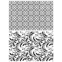 Stamper's Anonymous / Tim Holtz - Cling Mounted Rubber Stamp Set - Lattice & Flourish