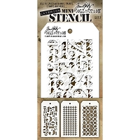 Stamper's Anonymous / Tim Holtz - Mini Layering Stencils - Set #7