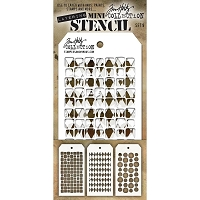 Stamper's Anonymous / Tim Holtz - Mini Layering Stencils - Set #9