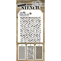 Stamper's Anonymous / Tim Holtz - Mini Layering Stencils - Set #13