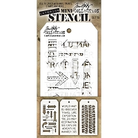 Stamper's Anonymous / Tim Holtz - Mini Layering Stencils - Set #15