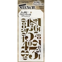 Stamper's Anonymous / Tim Holtz - Layering Stencil - Numeric