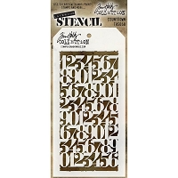 Stamper's Anonymous / Tim Holtz - Layering Stencil - Countdown