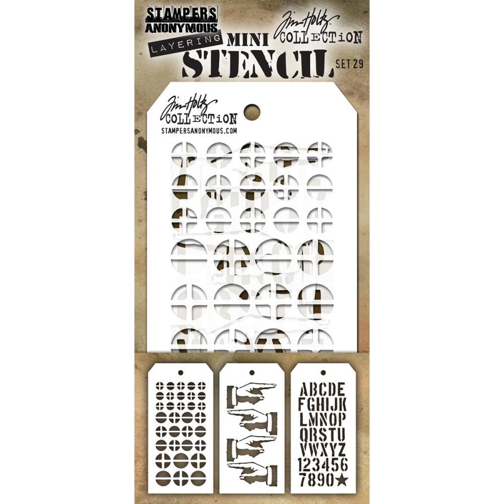 Stamper's Anonymous - New Tim Holtz Stencils April 2017