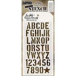 Stamper's Anonymous / Tim Holtz - Layering Stencil - Crate