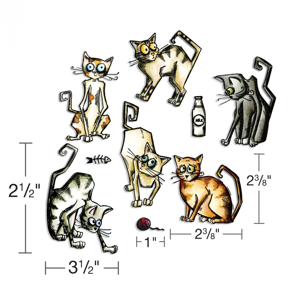 Sizzix - Tim Holtz new dies - including Crazy Cats