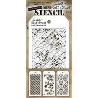 Stamper's Anonymous / Tim Holtz - Mini Layering Stencils - Set #4