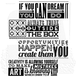 Stamper's Anonymous / Tim Holtz - Cling Mounted Rubber Stamp Set - Motivation 1