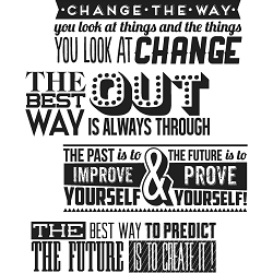 Stamper's Anonymous / Tim Holtz - Cling Mounted Rubber Stamp Set - Motivation 2