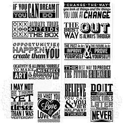 Stamper's Anonymous / Tim Holtz - Cling Mounted Rubber Stamp Set - Mini Motivation