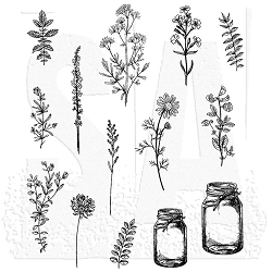 Stamper's Anonymous / Tim Holtz - Cling Mounted Rubber Stamp Set - Flower Jar