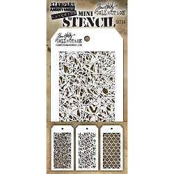 Stamper's Anonymous / Tim Holtz - Mini Layering Stencils - Set #24