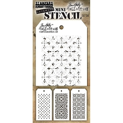 Stamper's Anonymous / Tim Holtz - Mini Layering Stencils - Set #30