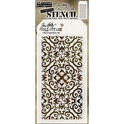Stamper's Anonymous / Tim Holtz - Layering Stencil - Flame
