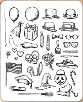 Stamper's Anonymous / Tim Holtz - Cling Mounted Rubber Stamp Set - Crazy Things