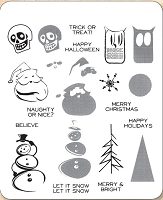 Stamper's Anonymous / Tim Holtz - Cling Mounted Rubber Stamp Set - Mini Halftones
