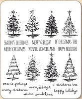 Stamper's Anonymous / Tim Holtz - Cling Mounted Rubber Stamp Set - Scribbly Christmas