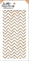 Stamper's Anonymous / Tim Holtz - Layering Stencil - zigzag