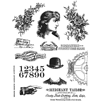 Stamper's Anonymous / Tim Holtz - Cling Mounted Rubber Stamp Set - Ladies & Gentlemen