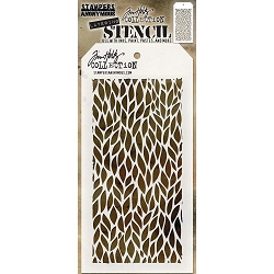 Stamper's Anonymous / Tim Holtz - Layering Stencil - Leafy