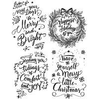 Stamper's Anonymous / Tim Holtz - Cling Mounted Rubber Stamp Set - Doodle Greetings #1
