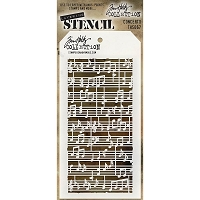 Stamper's Anonymous / Tim Holtz - Layering Stencil - Concerto