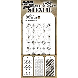 Stamper's Anonymous / Tim Holtz - Mini Layering Stencils - Set #31