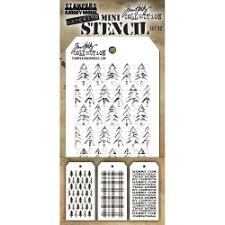 Stamper's Anonymous / Tim Holtz - Mini Layering Stencils - Set #32