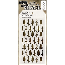 Stamper's Anonymous / Tim Holtz - Layering Stencil - Pines