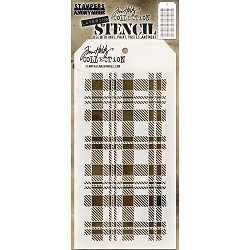 Stamper's Anonymous / Tim Holtz - Layering Stencil - Plaid