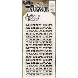 Stamper's Anonymous / Tim Holtz - Layering Stencil - Merry Christmas