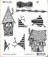 Dylusions - Cling Rubber Stamps - This Old House
