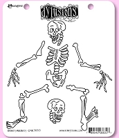 Dylusions - Cling Rubber Stamps - Boney Maloney