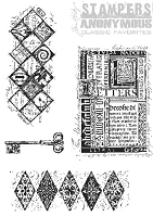 Tim Holtz Stamper's Anonymous Classics- Cling Rubber Stamp Set -  Classics # 3