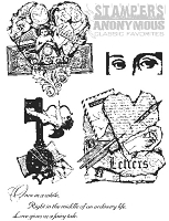 Tim Holtz Stamper's Anonymous Classics- Cling Rubber Stamp Set -  Classics # 8