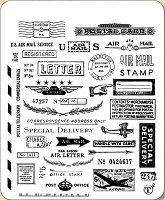 Stamper's Anonymous / Tim Holtz - Cling Mounted Rubber Stamp Set - Correspondence