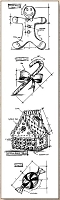 Stamper's Anonymous / Tim Holtz - Cling Mounted Rubber Stamp Set - Mini Blueprints Christmas #3