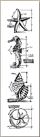 Stamper's Anonymous / Tim Holtz - Cling Mounted Rubber Stamp Set - Mini Blueprints Nautical
